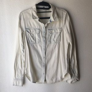Paige Acid Washed Button Up